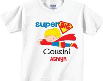 Big Cousin Shirts for Girls, Super Big Cousin