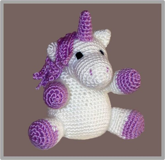 Free Crochet Pattern Stuffed Animals : Unicorn Stuffed Animal Crochet Pattern ... Instant Download