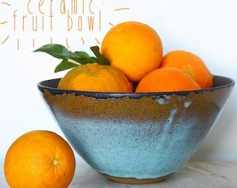 Large bowl Ceramic - Fruit Bowl or Mixing Bowl