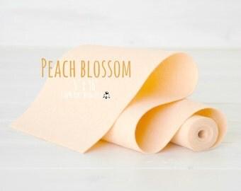 "100% Merino Wool Felt Roll  - 5"" x 36"" Wool Felt Roll - Wool Felt Color Peach Blossom-5020 - Pastel Color Wool Felt - Peach Color Wool Felt"