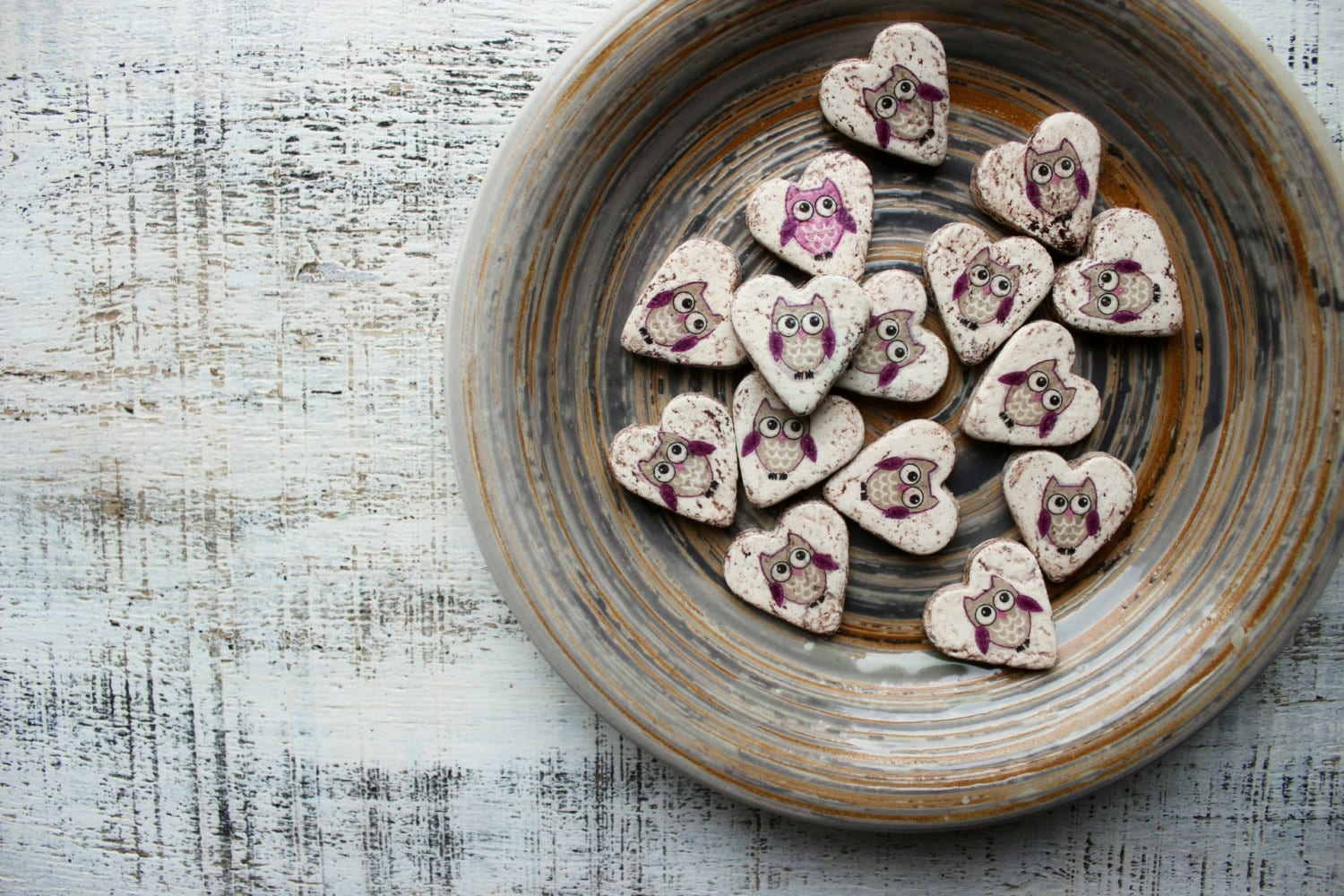 Owl Wedding Favors Heart Magnets Cottage Chic Guest Favors
