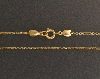 Gold Filled necklace chian - gold box chain necklaces 16 18 20 22 24 26 28 30inch - finished gold necklaces - dainty necklace ready to wear