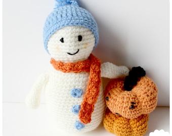 Patron amigurumi pieuvre en crochet pdf en t l chargement - Bonhomme de neige au crochet ...