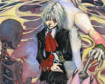 "D.Gray-Man Allen Walker Earl of the Millennium 8.5""x11"" Anime Digital Print"