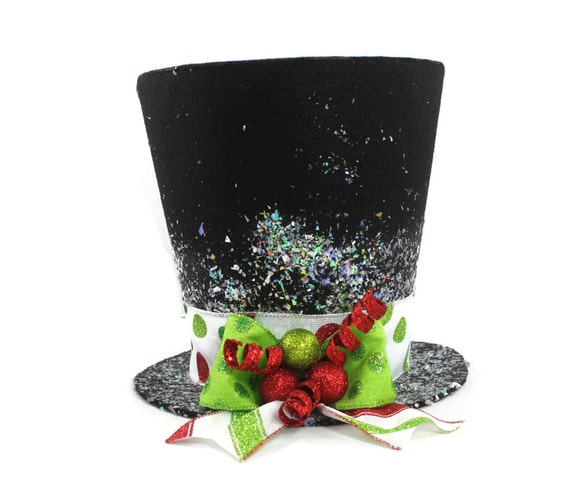 Whimsical Christmas Trees Ideas: Christmas Tree Topper Unique Top Hat Tree Topper By