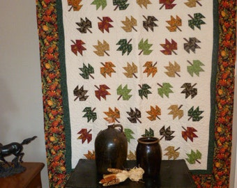 Autumn Leaf Lap Quilt