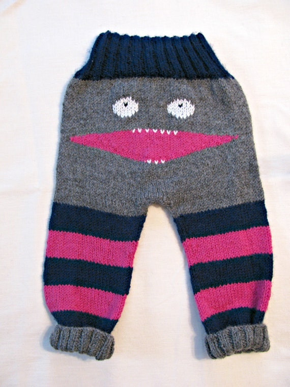 Knitted Monster Pants/ Baby Monster Pants