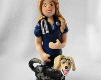 Custom Polymer Clay Single Figure Ornament, Custom Clay Ornament, Single Figure Figurine.  A  Hand Crafted Art Sculpture.