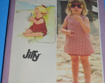 Simplicity 9386 Toddler Sundress  and Bloomers Sewing Pattern - UNCUT - Size 3