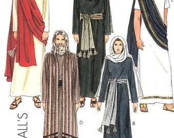 Costume Sewing Pattern Size Small 31 1/2 - 32 1/2 Passion Play Jesus Mary Apostles Pilates Pharisee High Priest Soldier McCall's 2060 Uncut