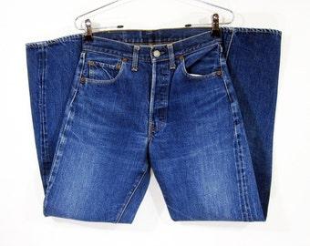"""Vintage Levi's 501 """"Big E"""" '66 Denim Pants W28 1960's"""