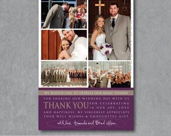wedding thank you card, printable thank you, wedding card, PRINTABLE