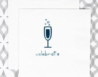 celebrate beverage napkin, 20 ct
