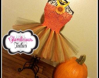 ThanksGiving tutu dress   Fall Tutu dress  Autumn tutu dress  Newborn- Child 8/10 listing