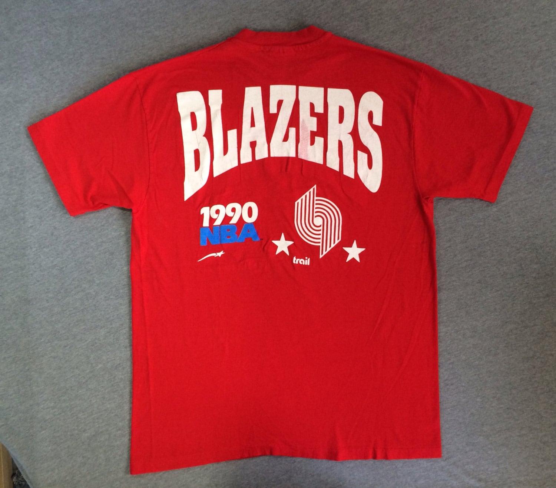 TRAIL BLAZERS Shirt 1990 Vintage/ RIP City Portland 2-sided