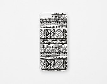 iPhone 6 Case - Mapuche iPhone Case - Black and White iPhone 6s Case - Hard Plastic or Rubber