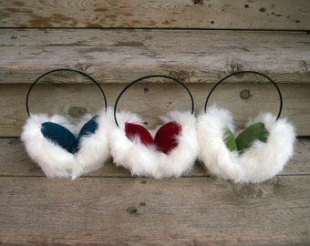 custom rabbit fur earmuffs