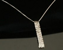 Wire Wrapped Jewelry Handmade, Sterling Silver Pendant necklace, Woven Wire Pendant