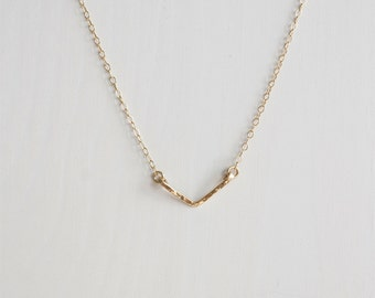 Mini Chevron Necklace . V necklace . Rose Gold . Sterling Silver necklace . Handmade jewellery . Australia made