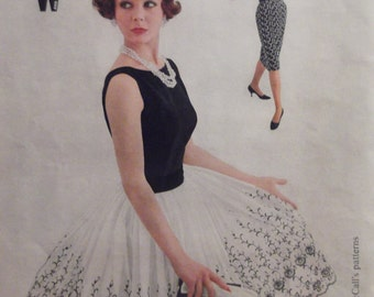 1959 MCCALLS PATTERN AD 1950's Womens Fashions Black White Dress Clothing Ready To Frame Additional Ads Ship Free