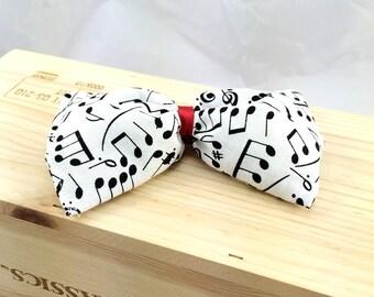 Crinckle organic catnip bow tie cat toy, Catnip bow tie, Music notes bow tie, Kitten toy, black white red