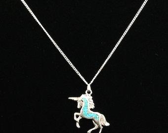 Silver 925 Unicorn Necklace (LD146)
