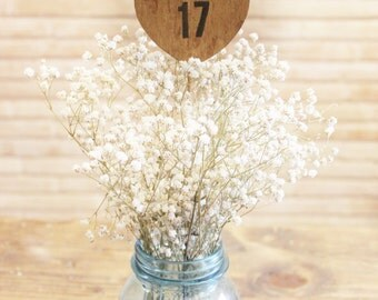 rustic table numbers . wood heart table numbers on a stick . heart table numbers .  woodland wedding numbers