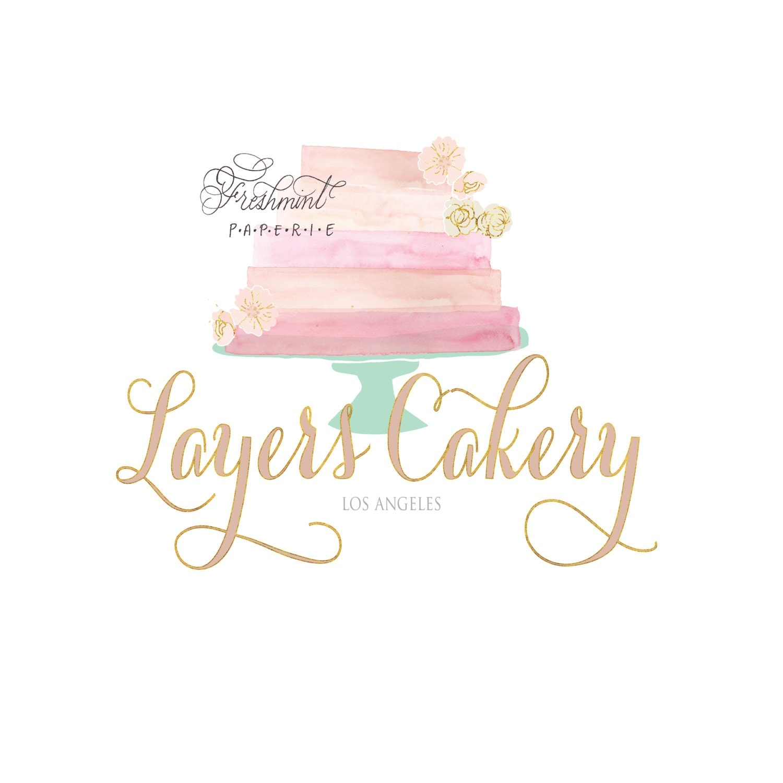Cake Company Logo Design : bakery logo cake logo logo design calligraphy logo