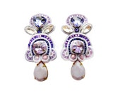 SYRINGA VULGARIS soutache earrings in lilac