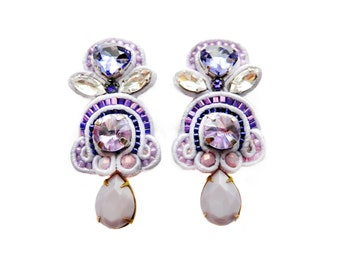 SYRINGA VULGARIS soutache earrings in lilac