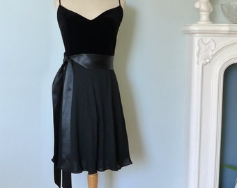 Black Silk Dress,Velvet Dress, Anne Klein Dress, Little Black Dress.  Prom Dress, Balck Dress, Strapless Dress, Black Evening Dress