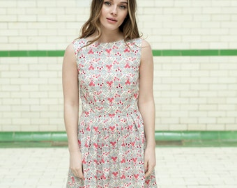 SALE Floral sleeveless dress