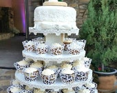 Cupcake Stand 5 Tier Round White Melamine Cupcake Tower Display Stand Birthday Stand Wedding Stand Donut Stand