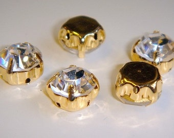 ss16 4mm costume golden diamante montee rhinestone crystal chaton bead 1440 pcs
