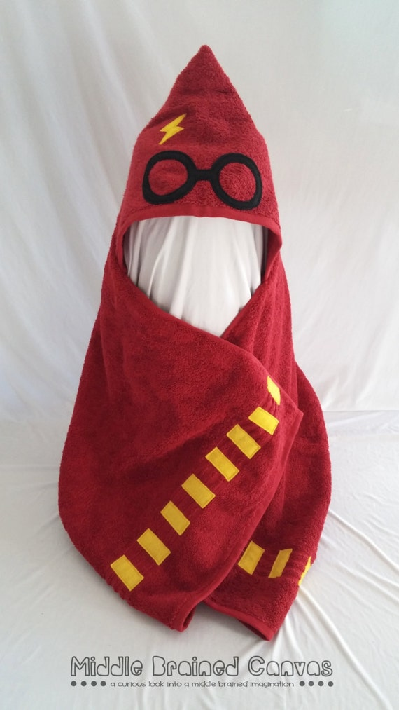Harry Potter Inspired Hooded Bath Towel