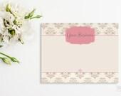 Headband Card Bow Card Display Card design Printable Custom Premade Brown damask Pink