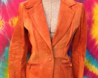 Vintage Women's Split End Ltd. Leather Jacket. Size 9/10. 1970's Leather Jacket.