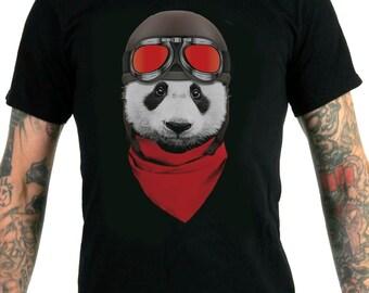 Vintage Motorcycle Panda Men's T-Shirt