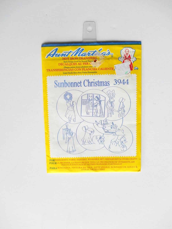 Aunt martha s embroidery transfers sunbonnet christmas