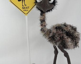 Amigurumi Crochet Pattern - Emma the Emu