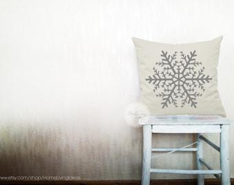 Snowflake pillows decorative throw pillows winter pillows snowflake throw pillows pillows holiday pillows 14x14 inches pillows