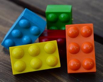 Building Block Crayons set of 40 - Party Favors - Kids Crayons