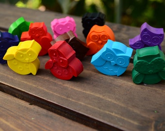 Owl Crayons set of 96 - Owl Party Favors