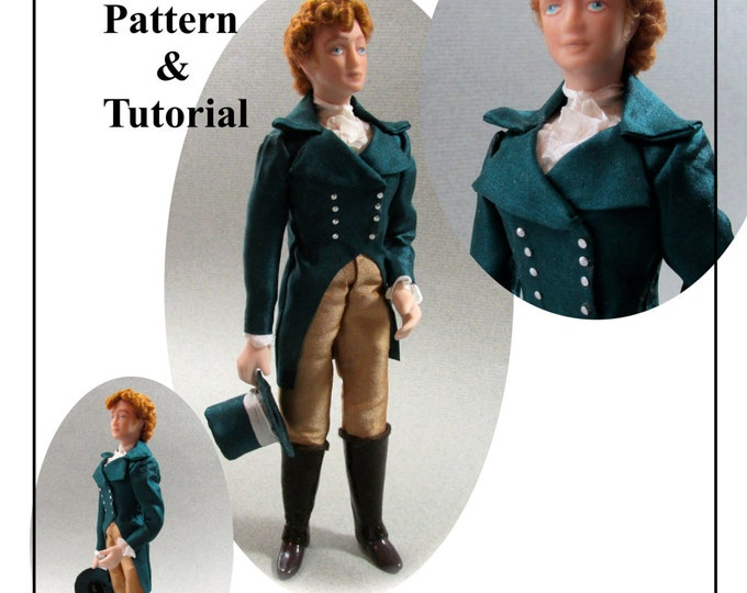 Dollhouse Doll MARCUS Man Doll DIY Pattern and Tutorial PDF Miniature Dollhouse 1:12 Scale Instant Download
