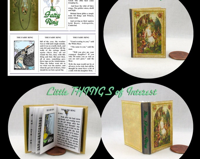 The FAIRY RING Book in 1:6 Scale - Blythe - Momoko - Pullip - Barbie Scale Readable Illustrated Book