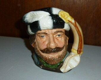 Vintage Ceramic Pig Figurine Blue Eyes Piglets In A Basket