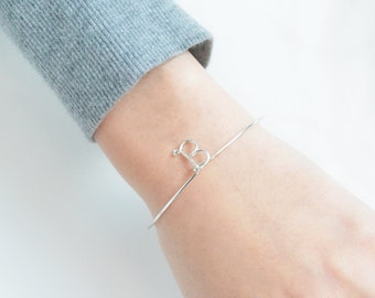 Initial Bracelet Personalized Bangle