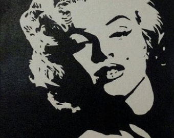 Beautiful Marilyn Monroe hand painted acrylic on canvas