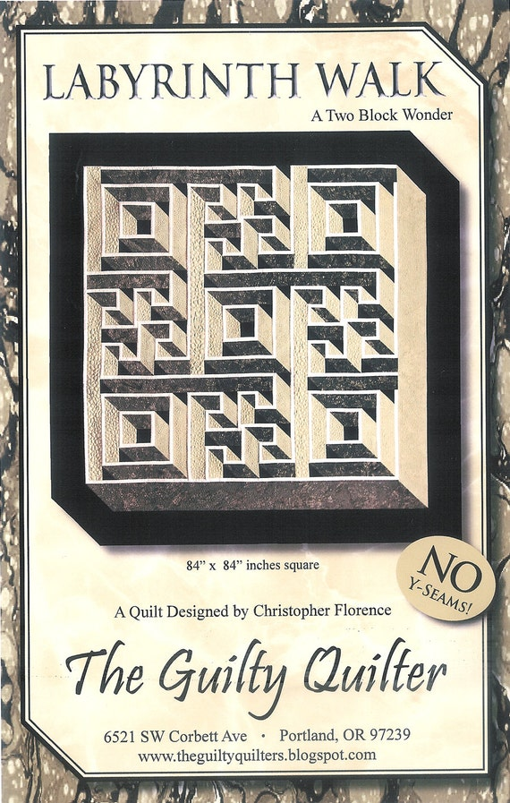 Quilt Pattern Labyrinth Walk Instruction Guide Pattern By