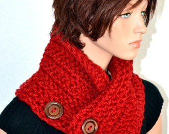 Crochet Neck Warmer/ Cowl scarf/ Red Cowl/ Red Neck Warmer/ High Fashion Cowl/ Women's Fashion/ Winter Fashion/ Handmade Gift/ Gift idea